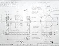 Hand Drawn Machine Element Design