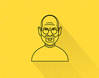 Line Icons of Famous People