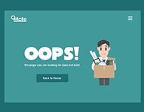 404 Error Page UI Concept