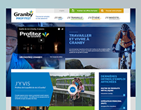 Granby-Profitez -Home Page Design