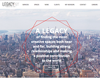 Copy and Designs for LegacyNY's New Website