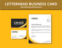 Letterhead and Business card, free mockup