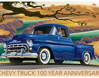 Chevy 3100 Pickup 100 YEAR ANNIVERSARY POSTER