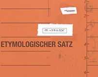 Etymologischer Satz - Artist book