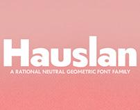 Hauslan | a geometric font family