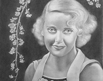 Bette Davis portrait drawing