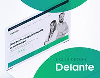 Delante - redesign - UX & UI process