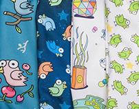 A series of prints for bags Greenbird.ru