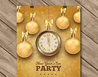 New Year's Eve Party Poster | Designed for Freepik