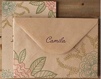 CAMILA - Tarjeta de 15 / Sweet 15 Invitation