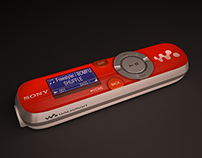 Product Render - Sony MP3 Player