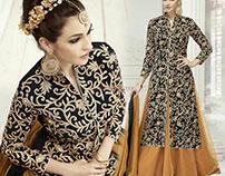 Indo Western Front Slit Cut Designer Dresses By DNU
