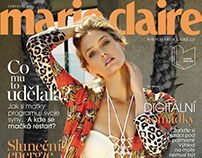 Marie Claire CZ July 2015 Bar Refaeli