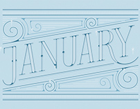 January | Lettering works