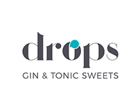 Drops Gin & Tonic Sweets | Branding, packaging & web