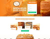 Landing page layout | Doces for Me