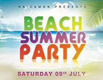 Beach Summer Party Flyer