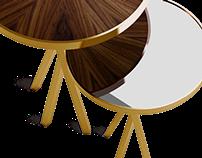 Wheel Set   Side Table