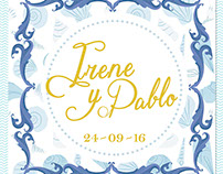 Wedding invitation: Irene y Pablo