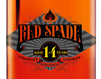 Red Spade Bourbon Label
