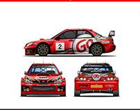 Go Subaru Impreza WRC Wrap Design