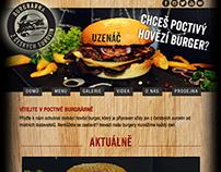 Webdesign for burger company poctivyburger.cz