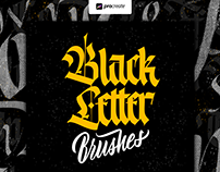 Blackletter brush Pack for Procreate