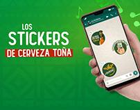 Stickers de Cerveza Toña