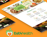 Landing page - delivery healthy food / website / design