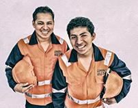 Fotografía de portada - Obreros - Consorcio Arequipa II