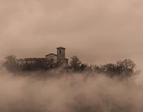 Rocca Sinibalda in monochrome...
