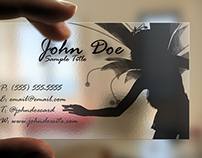 Fairy Transparent Business Card