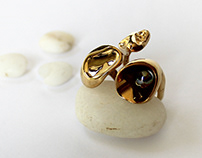 Statement Ring, Pearl Ring For Woman, Promise Ring