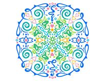Loraine - Mandala based logo.