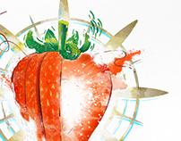 Ilustraciones para Bar de Frutas