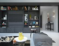 Black and white apartment - Ukraine