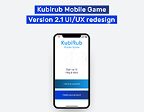 Kubirub Mobile Game UI/UX redesign