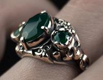 Gothic skull ring   Tyvodar.com