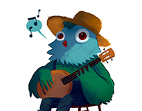 Blues Bird ///  Character Design
