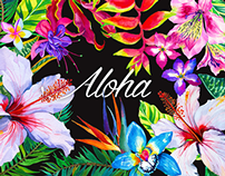 Aloha - tropical kit for designers.