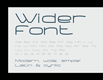 WIDER | Free font
