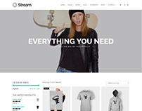 Shop Page - Stream Anchor WordPress Theme