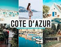 Free Cote D'Azur Mobile & Desktop Lightroom Presets