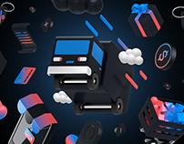 E-Shop - 3D icons set