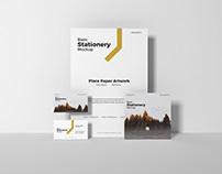 Free Basic Stationery Mockup Design