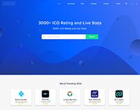 UI/UX Design for ICO Rating Website