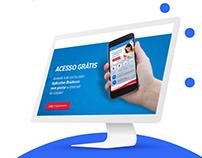 Landing Page do app do Bradesco