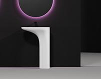 Rendezvous freestanding washbasin concept