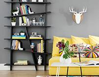Assimetric Bookshelf   Tok&Stok