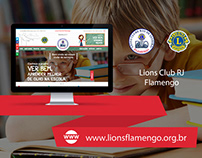 Web Design | Website Lions Club RJ Flamengo